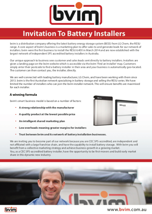 invitation to battery installers 2018 thumbnail